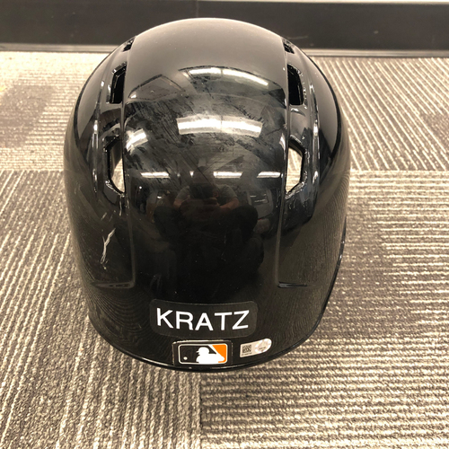 Photo of 2019 Game Used Spring Training Batting Helmet worn by #5 Erik Kratz on 3/26/19 vs. Oakland A's - Size 7 3/4