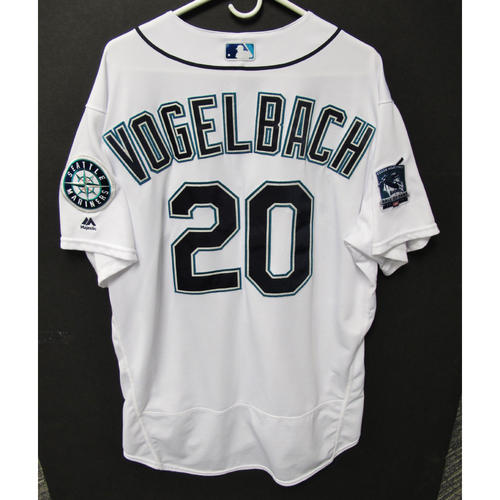 Photo of Seattle Mariners 2019 Daniel Vogelbach Game-Used Jersey - Edgar Martinez Hall of Fame Celebration Weekend - August 9-11