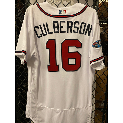 Photo of Charlie Culberson Game Used Jersey from 2018 NLDS - Worn 10/8/2018