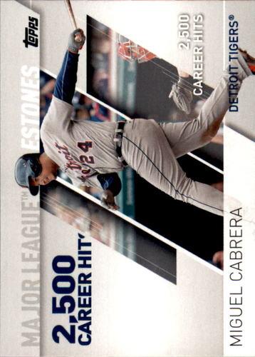Photo of 2017 Topps Major League Milestones #MLM8 Miguel Cabrera