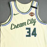 Giannis Antetokounmpo - Milwaukee Bucks - Game-Worn City Edition Jersey - Worn 2 Games (2 Double-Doubles) - 1st Half - 2019-20 NBA Season Restart with Social Justice Message