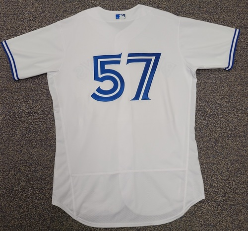 Photo of Authenticated Team Issued 2020 Summer Training Camp Jersey: #57 Trent Thornton. Size 46.