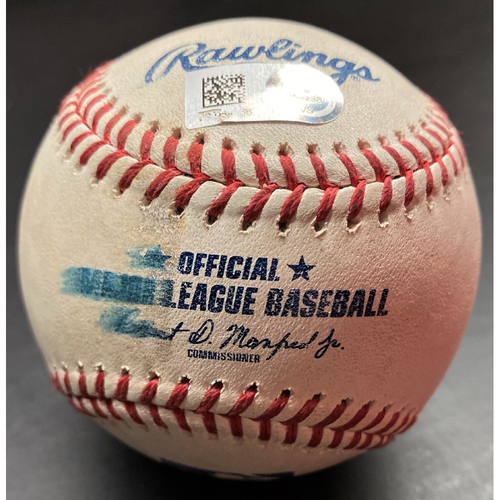 Photo of Game-Used Baseball: Yoan Moncada Chicago White Sox RBI Ground Out (MLB AUTHENTICATED)