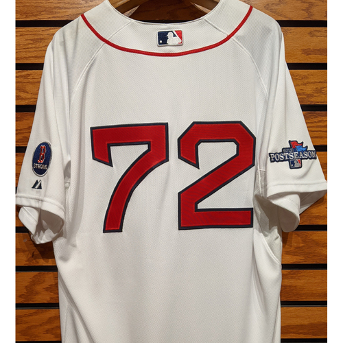 Photo of 2013 Postseason Xander Bogaerts #72 Team Issued Home White Jersey