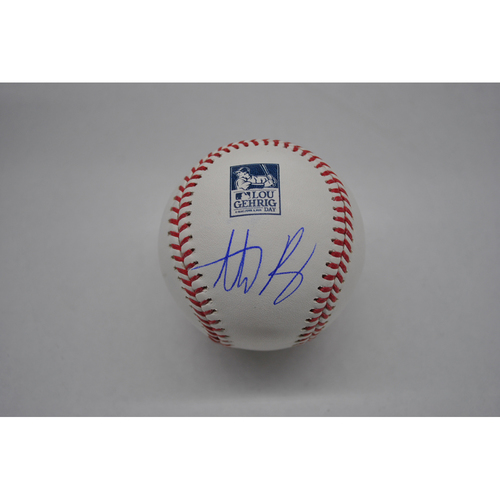 Photo of Autographed Lou Gehrig Day Baseball - Anthony Rizzo