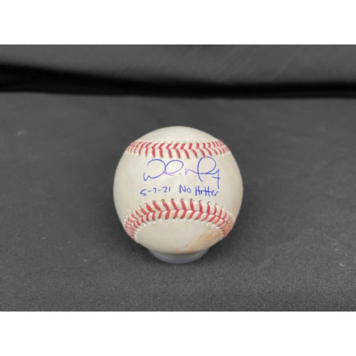 Photo of Wade Miley No-Hitter - *Autographed Game-Used Baseball* - Bot 4 - Wade Miley to Cesar Hernandez (Foul Bunt) - Inscribed as 5-7-21 No Hitter