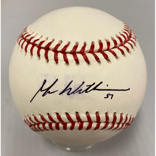 Photo of Giants Community Fund - Smudged Autographed Baseball signed by Mac Williamson