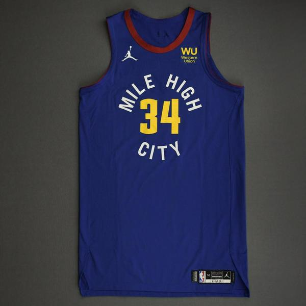 Image of JaVale McGee - Denver Nuggets - Game-Worn Statement Edition Jersey - Dressed, Did Not Play (DNP) - 2021 NBA Playoffs
