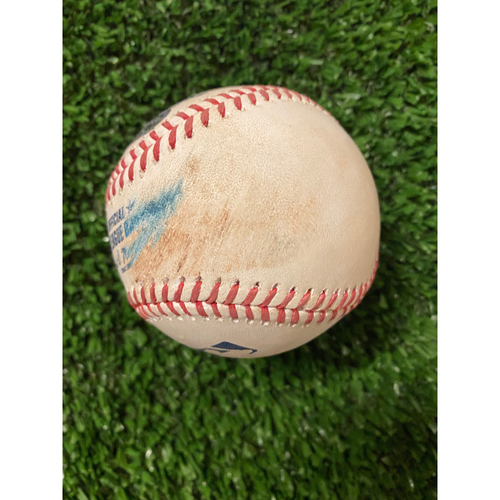 Photo of Teoscar Hernandez Hit Single Baseball - May 11, 2021 off Jacob Webb