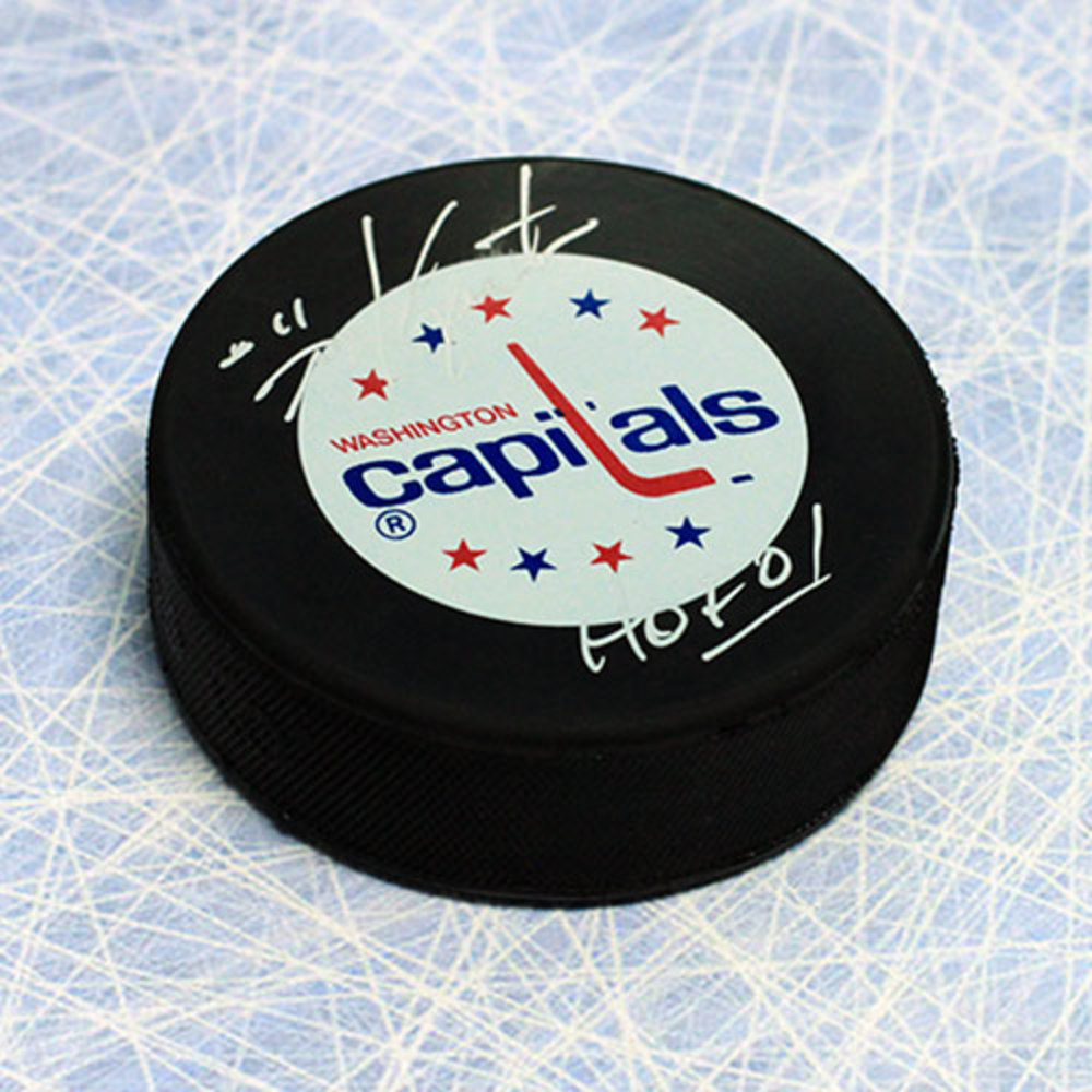 Mike Gartner Washington Capitals Autographed Hockey Puck with HOF Inscription