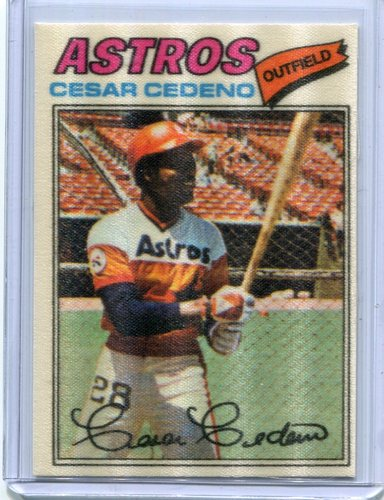 Photo of 1977 Topps Cloth Stickers #13 Cesar Cedeno SP
