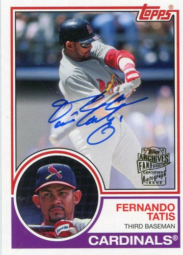 Photo of 2016 Topps Archives Fan Favorites Autographs  Fernando Tatis