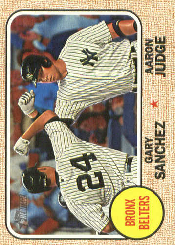 Photo of 2017 Topps Heritage Combo Cards #CC2 Aaron Judge/Gary Sanchez