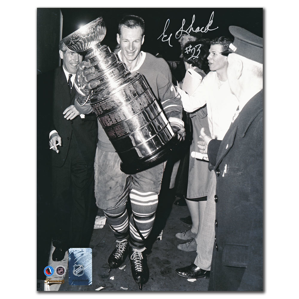Eddie Shack Toronto Maple Leafs STANLEY CUP Autographed 8x10 - NHL Auctions