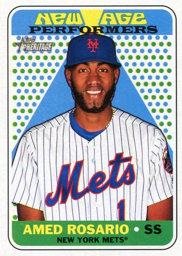 Photo of 2018 Topps Heritage New Age Performers #NAP23 Amed Rosario