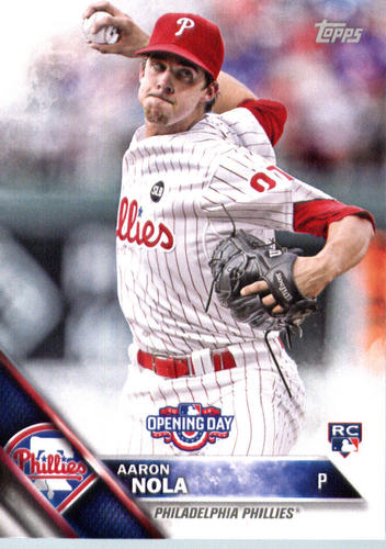 Photo of 2016 Topps Opening Day #OD70 Aaron Nola Rookie Card