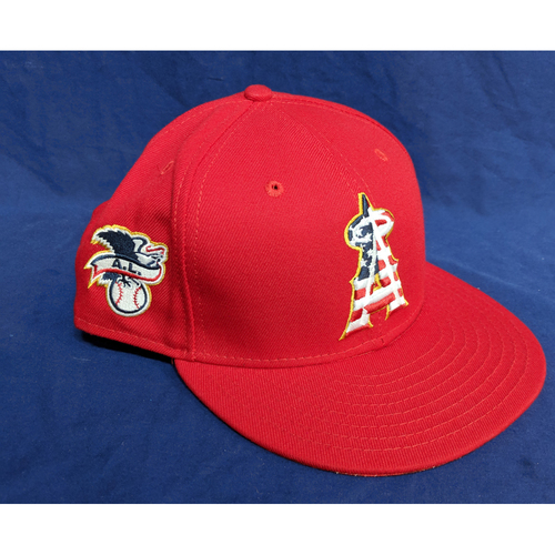 Photo of Eric Hinske Game-Used 4th of July 2018 Cap