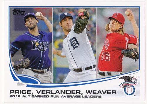 Photo of 2013 Topps #94 Justin Verlander/David Price/Jered Weaver