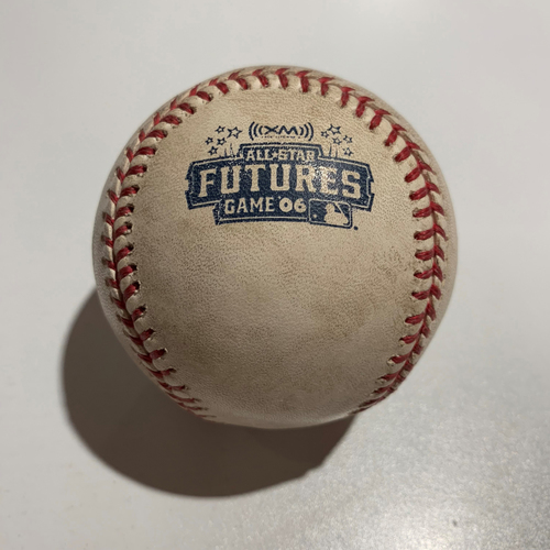 Photo of 2006 Futures Game - Game Used Baseball - Batter: Carlos Gonzalez Pitcher: Phil Hughes - Foul Ball