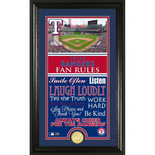 Photo of Texas Rangers Fan Rules Supreme Bronze Coin Photo Mint