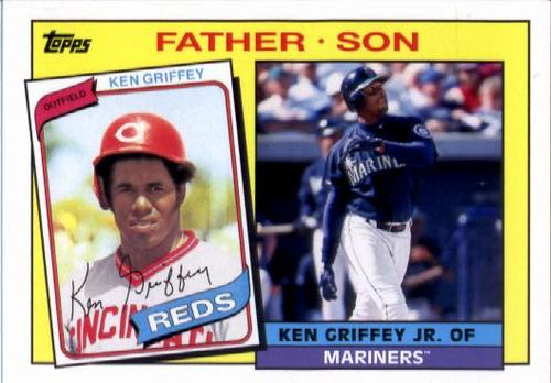 Photo of 2016 Topps Archives '85 Father Son #FSGG Ken Griffey Jr./Ken Griffey Sr.