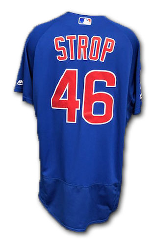 Photo of Pedro Strop Game-Used Jersey -- Cubs at Rangers; 3/31/19 -- Cubs at Cardinals; 9/29/19 -- Size 46