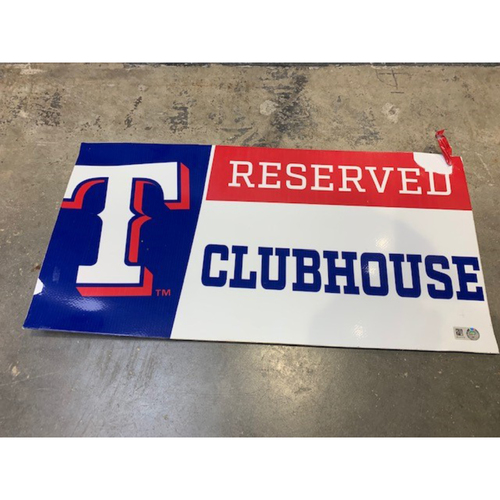 Photo of Designated Parking Spot Sign From Players Parking Area at Globe Life Park - Home Clubhouse Staff