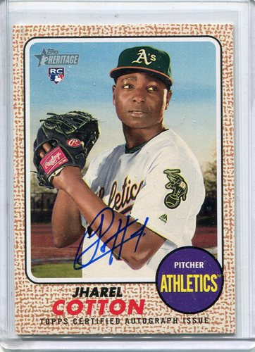 Photo of 2017 Topps Heritage Real One Autographs #ROAJC Jharel Cotton