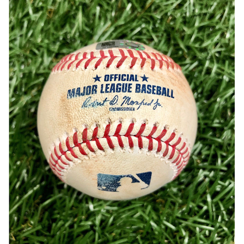 Photo of Game Used Baseball: Nate Lowe single off Anibal Sanchez - September 15, 2020 v WSH