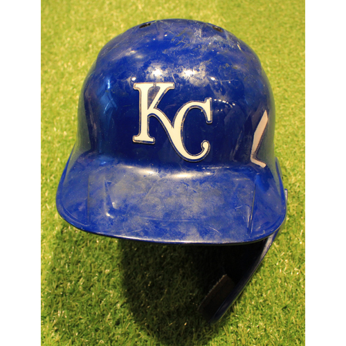 Photo of Game-Used Helmet: Ryan McBroom #9 (DET @ KC 9/26/20)