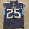 Crucial Catch - Titans Adoree Jackson Signed Game Issued Size 38