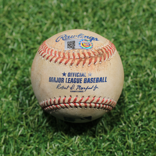 Photo of Game-Used Baseball: Brad Keller 252nd Career Strikeout (9/25/20 DET @ KC)