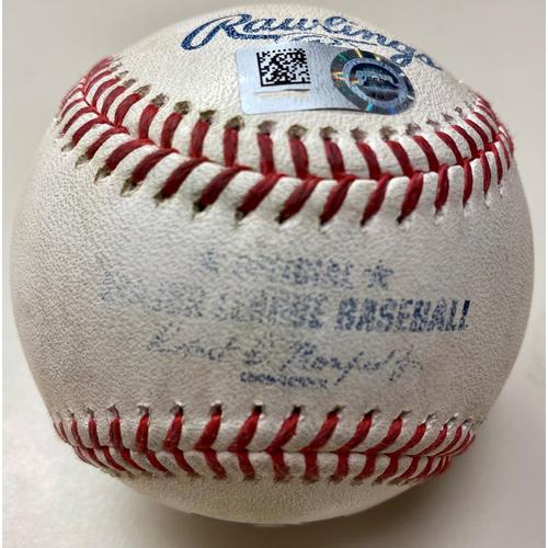 Photo of Game-Used Baseball:  Jose Ramirez and Amed Rosario Cleveland Indians Singles (MLB AUTHENTICATED)