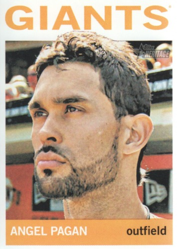 Photo of 2013 Topps Heritage #26 Angel Pagan