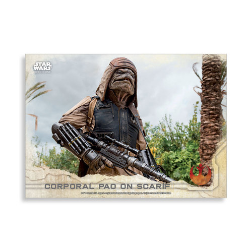 Corporal Pao on Scarif 2016 Star Wars Rogue One Series One Base Poster - # to 99