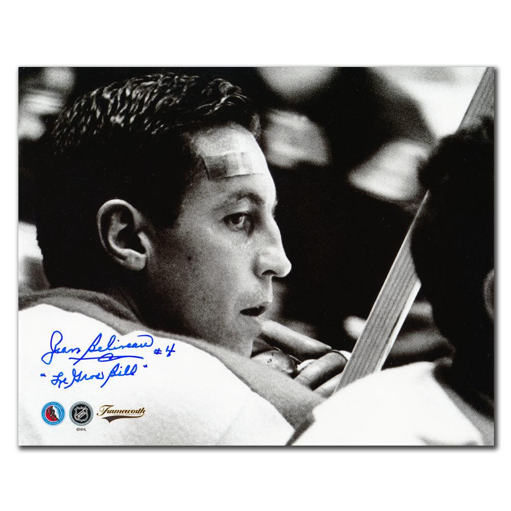 Jean Beliveau Montreal Canadiens Le Gros Bill Autographed 16x20