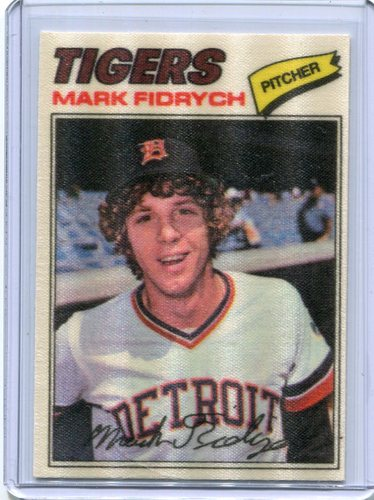 Photo of 1977 Topps Cloth Stickers #15 Mark Fidrych