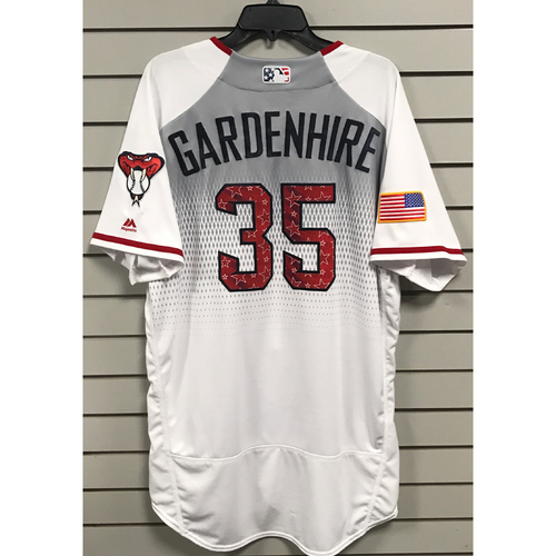 Photo of Ron Gardenhire Game-Used 2017 4th of July Home Jersey