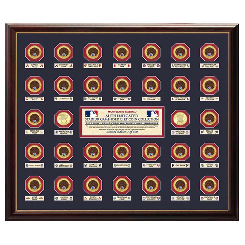 Photo of UMPS CARE AUCTION: Highland Mint Major League Baseball Stadium Infield Dirt Coin Collection