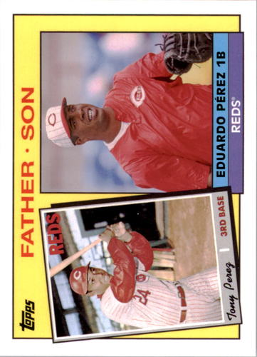 Photo of 2016 Topps Archives '85 Father Son #FSPP Eduardo Perez/Tony Perez