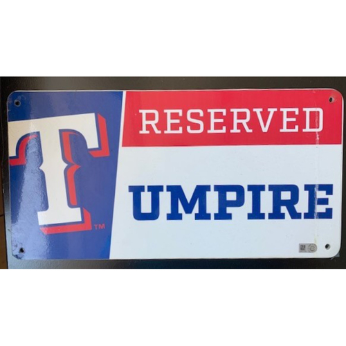 Photo of Designated Parking Spot Sign From Players Parking Area at Globe Life Park - MLB Umpire