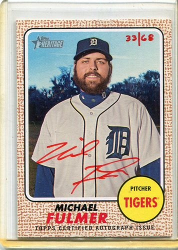 Photo of 2017 Topps Heritage Real One Autographs Red Ink #ROAMF Michael Fulmer