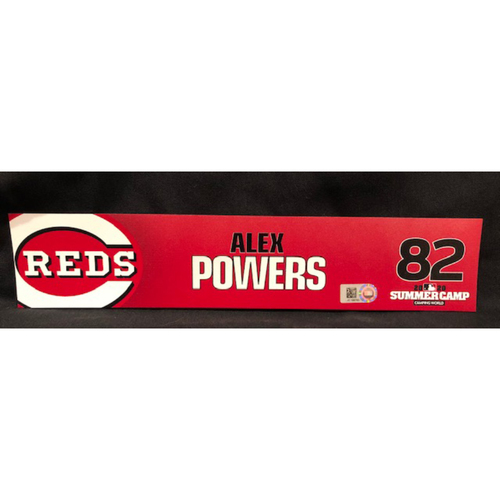 Photo of Alex Powers -- 2020 Sumer Camp Locker Tag -- Team-Issued