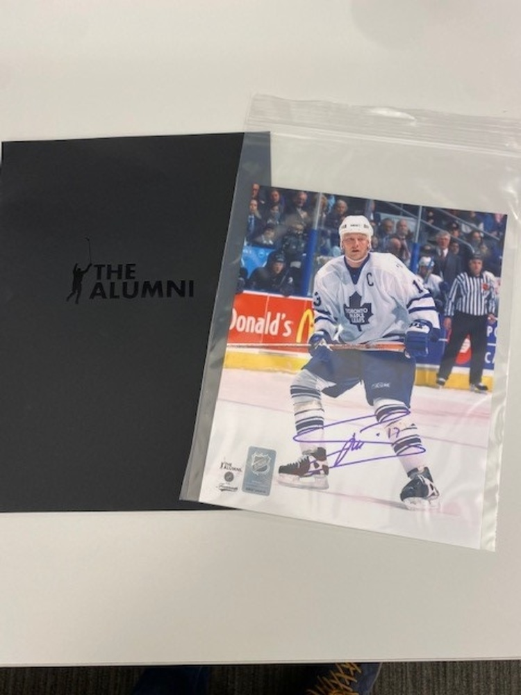 Mats Sundin Toronto Maples Leafs Autographed 8x10 Photo.  Donated by the NHL Alumni and benefitting Hockey Fights Cancer