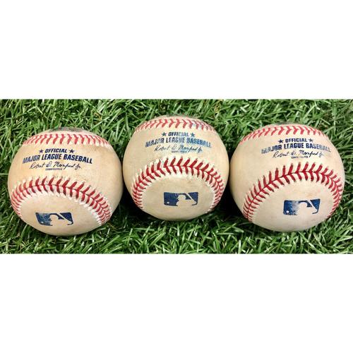 Photo of Game Used Baseball Package: Josh Harrison, Carter Kieboom, Juan Soto, Josh Fleming, Ryan Sherriff and Pete Fairbanks - Josh Fleming Rookie Season - September 16, 2020 v WSH