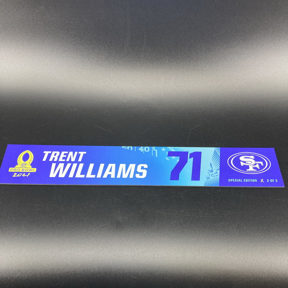NFL - 49ers Trent Williams 2021 Pro Bowl Locker Nameplate Special Edition #2 of 5