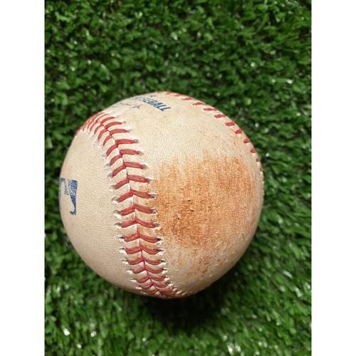 Photo of Juan Soto Hit Single Baseball - June 1, 2021 off Max Fried