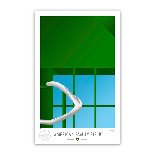 Photo of American Family Field - Collector's Edition Minimalist Art Print by S. Preston Limited Edition /350  - Milwaukee Brewers
