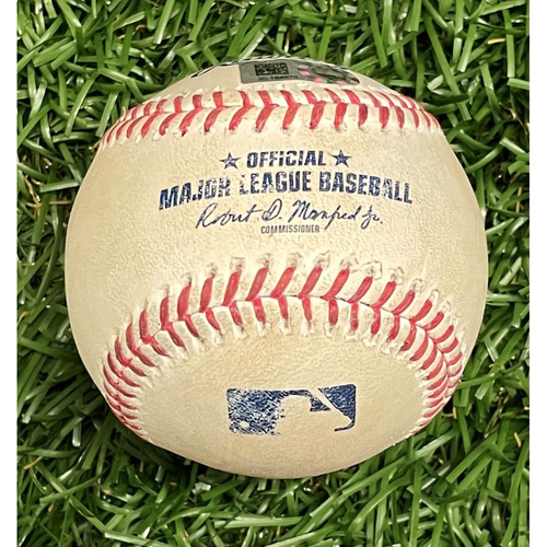 Photo of Game Used Baseball: Alex Verdugo single off Luis Patino - Top 6 - August 30, 2021 v BOS