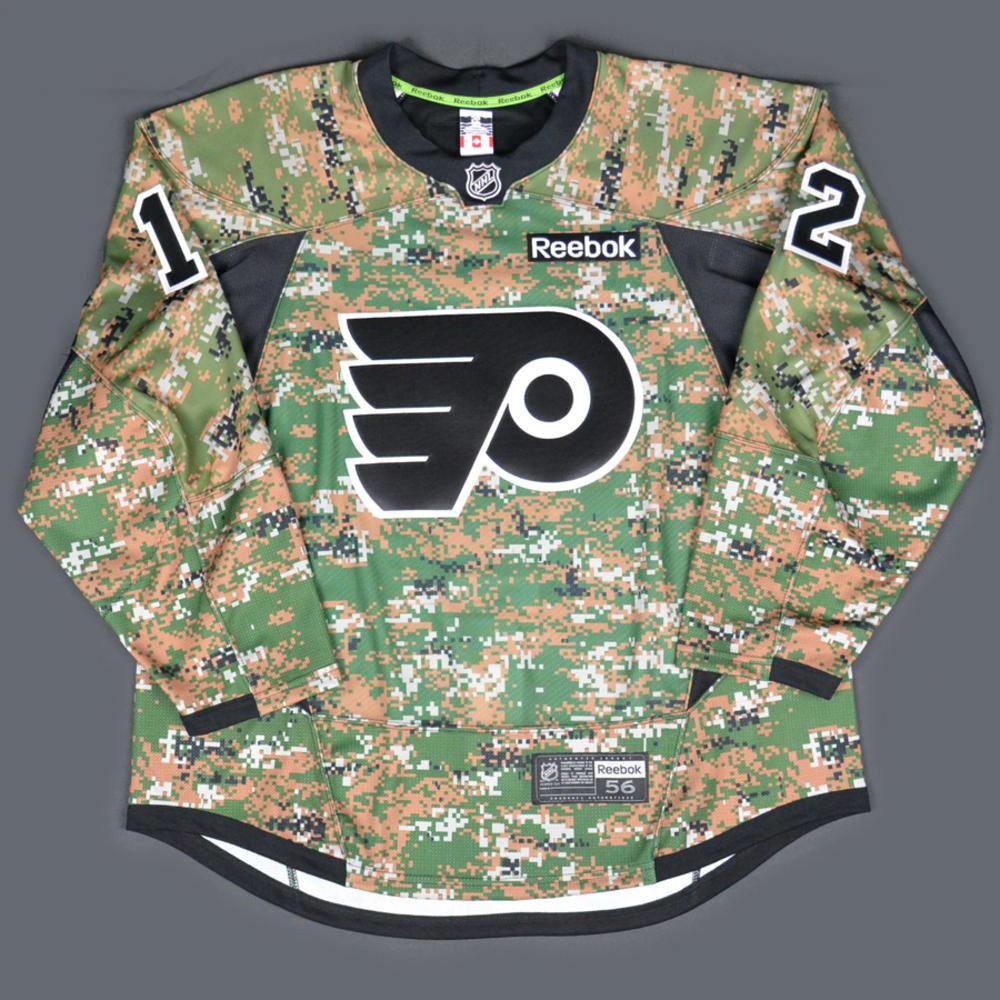 3476a520e51 Michael Raffl - Philadelphia Flyers - Military Appreciation Warmup-Worn  Autographed Jersey